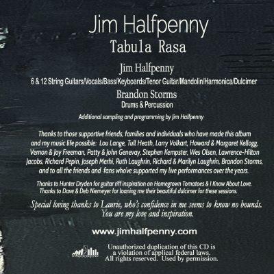 Tabula Rasa - CD Inside Right Website